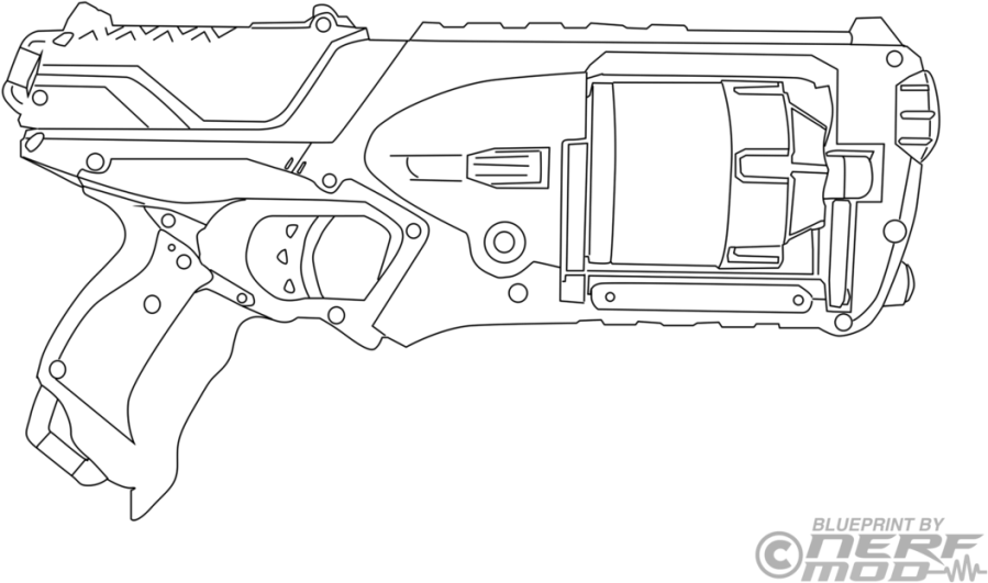 download hd nerf gun coloring pages 92277 technical