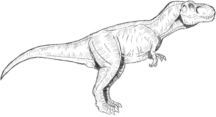download jurassic park t rex coloring pages to print