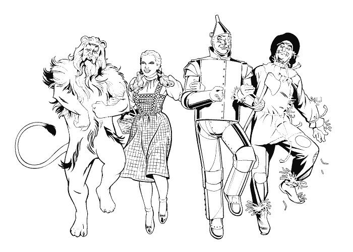 download wizard of oz coloring pages wizard of oz color