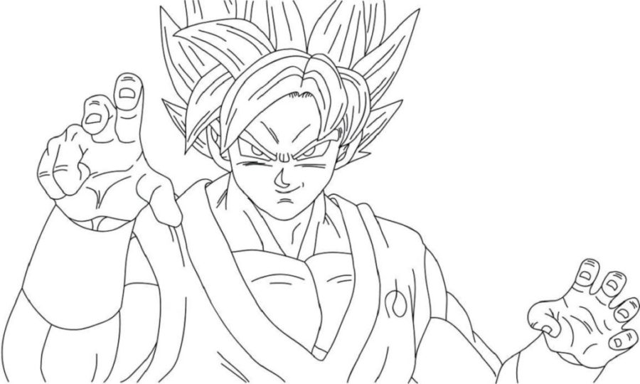 dragon ball super coloring pages printable shelter