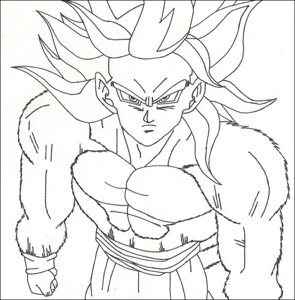 dragon ball z coloring page goku luxury photos coloring