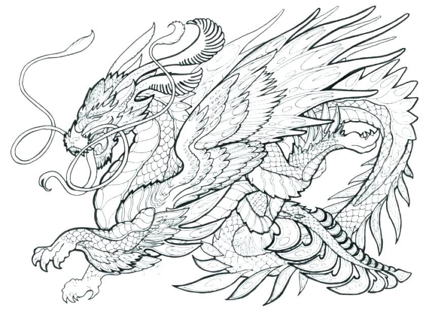 dragon coloring pages printables at getdrawings free
