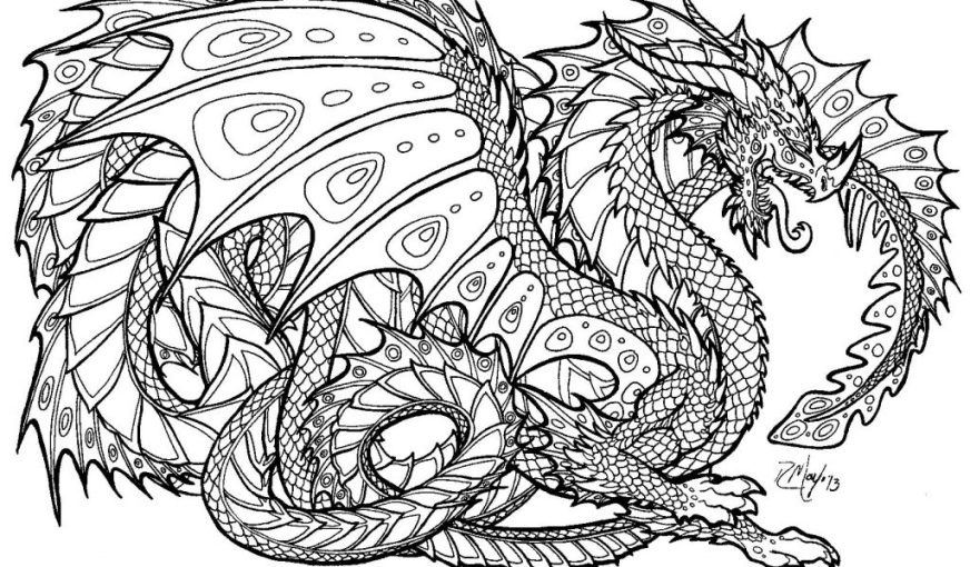 dragon free coloring pages