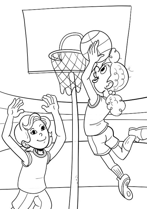 drawing basketball coloring pages free image on pixabay