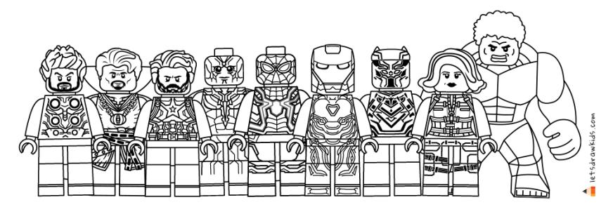 drawing lego avengers infinity war