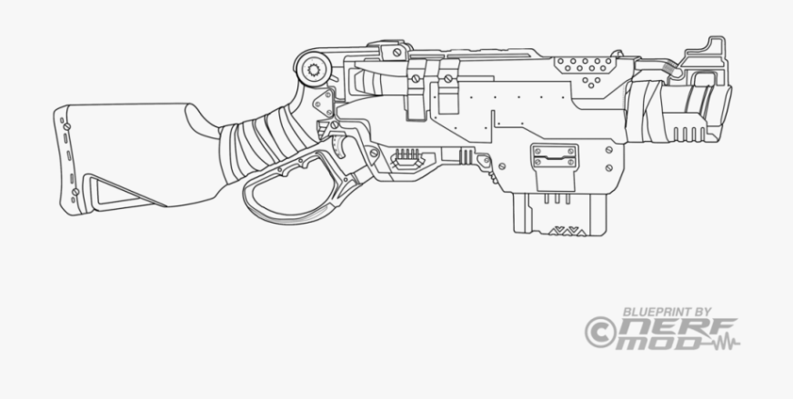 drawn pistol coloring page nerf gun painting template