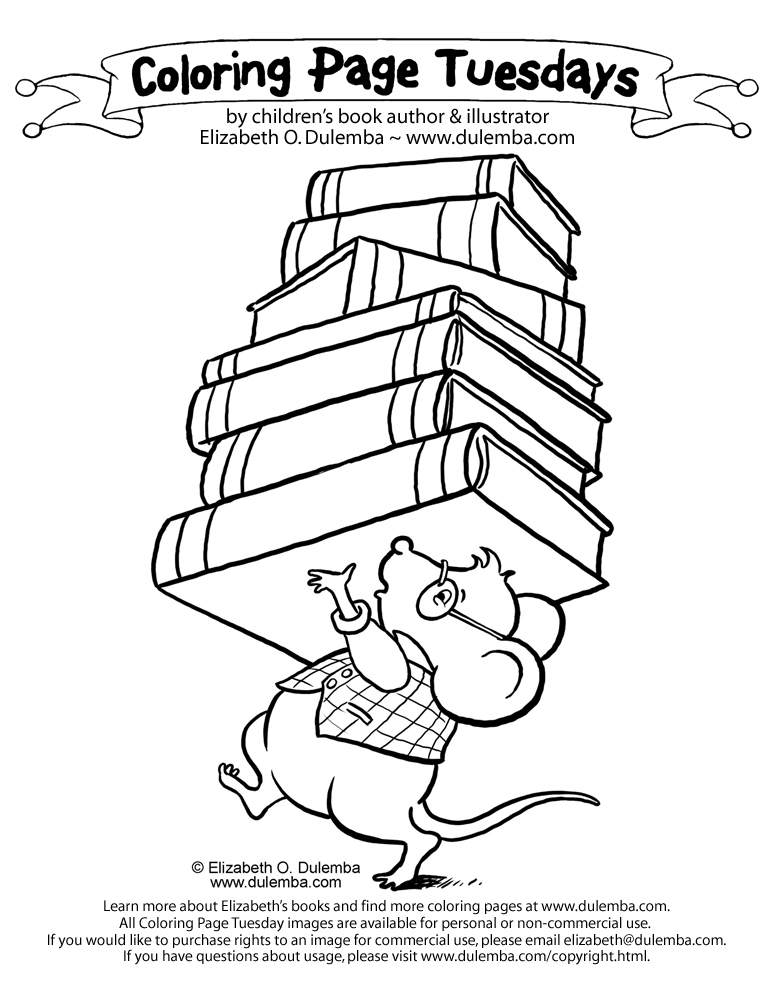 dulemba coloring page tuesday library mouse