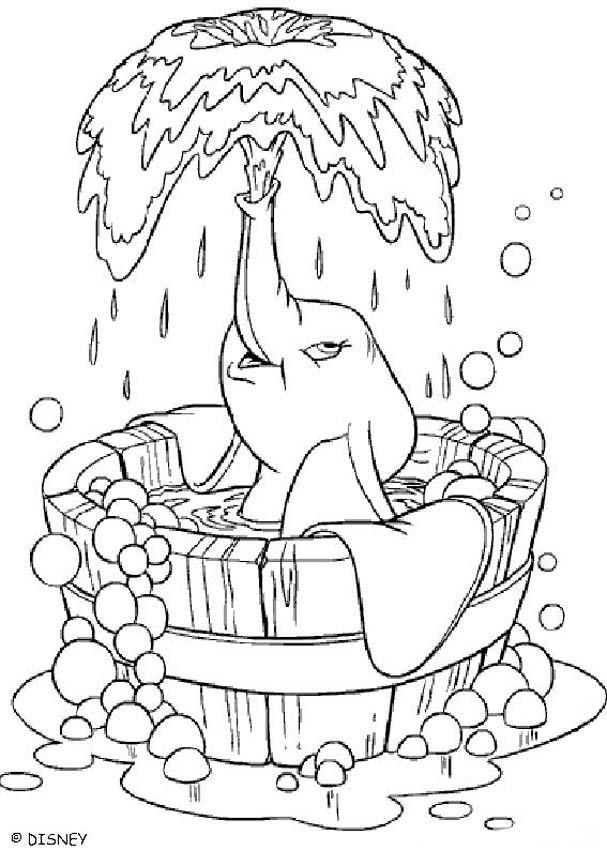 dumbo coloring pages meus bichinos elephant coloring