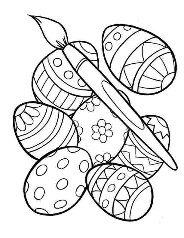 Easter Eggs Coloring Pages Collection Whitesbelfast