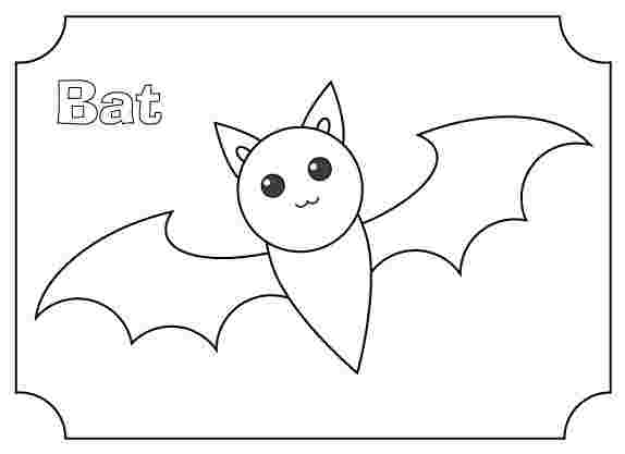 easy bat coloring pages plantillas murcielagos para imprimir