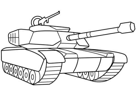 easy printable coloring pages tanks printable to military