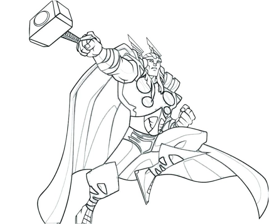 easy thor coloring pages download fun for kids