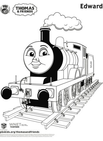 edward from thomas friends coloring page free printable