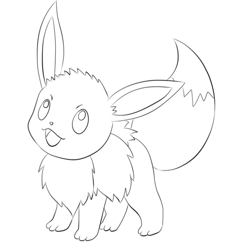eevee coloring page free printable coloring pages