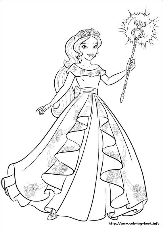 elena of avalor coloring picture princess coloring pages