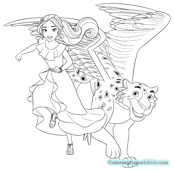 elena of avalor playing guitar coloring pages free