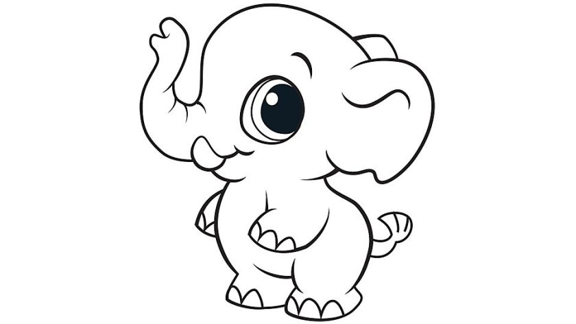 elephant coloring pages pdf