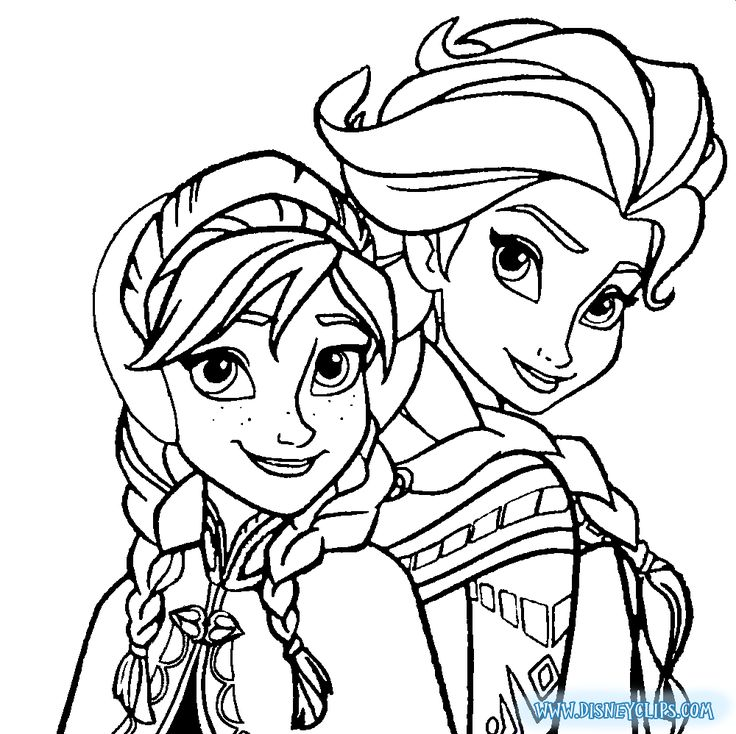 elsa and anna coloring pages for free