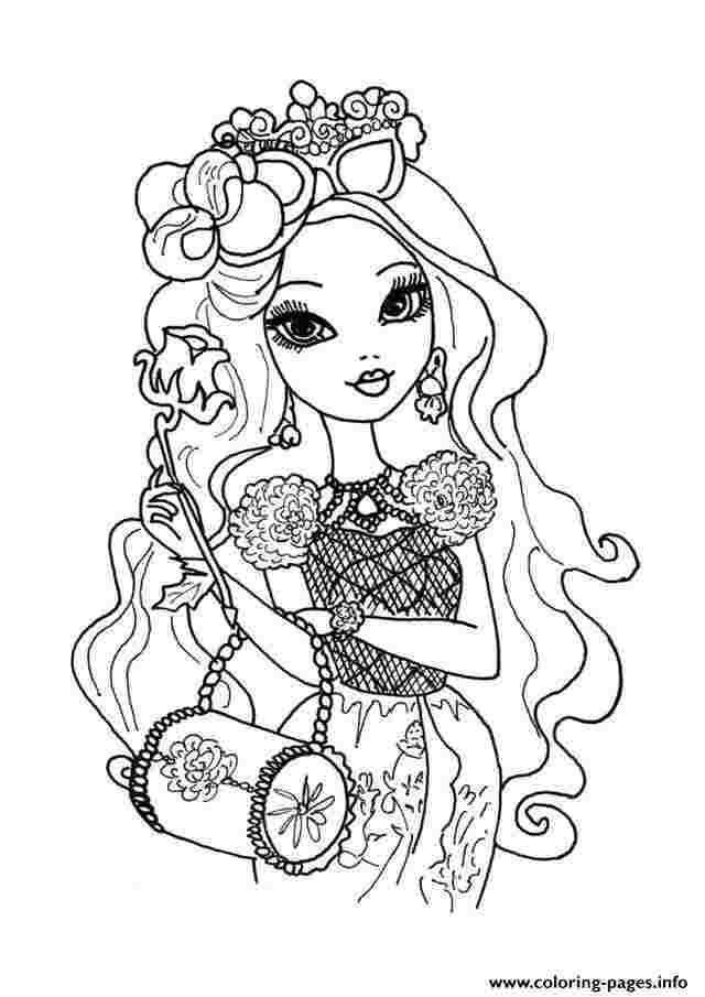 ever after high dolls coloring pages ever after high