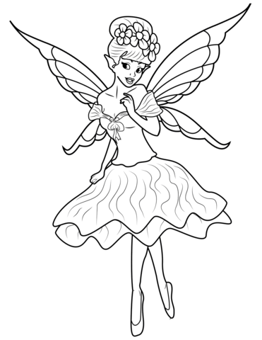 fairy coloring page free printable coloring pages