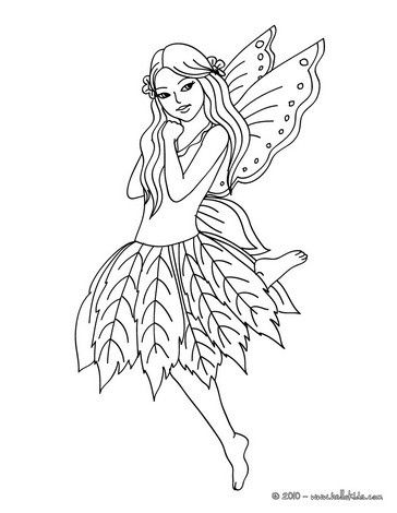 fairy coloring pages on fairy leaf dress coloring page fairy