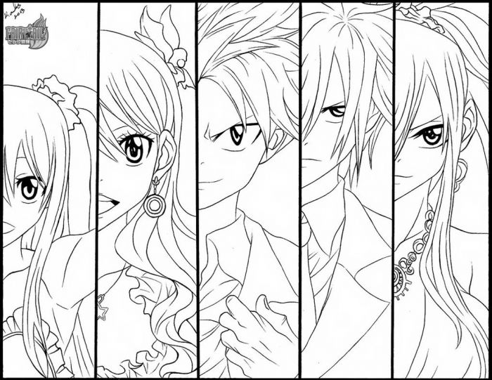 fairy tail coloring pages fairy tail anime coloring pages