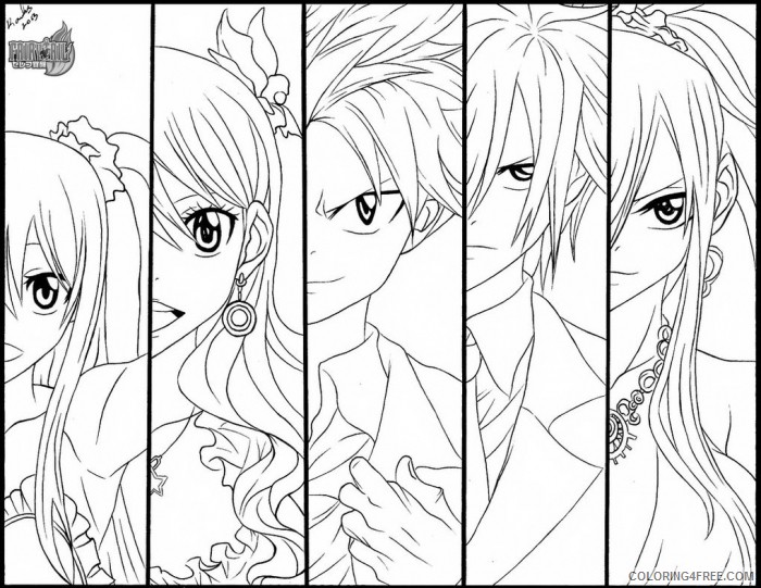 fairy tail coloring pages to print coloring4free