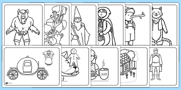 fairy tale coloring sheets