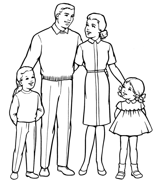 family people and jobs coloring sheets photograph families