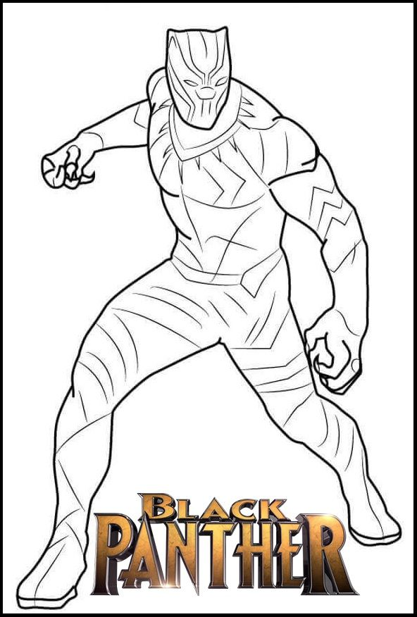 fantastic black panther coloring page avengers