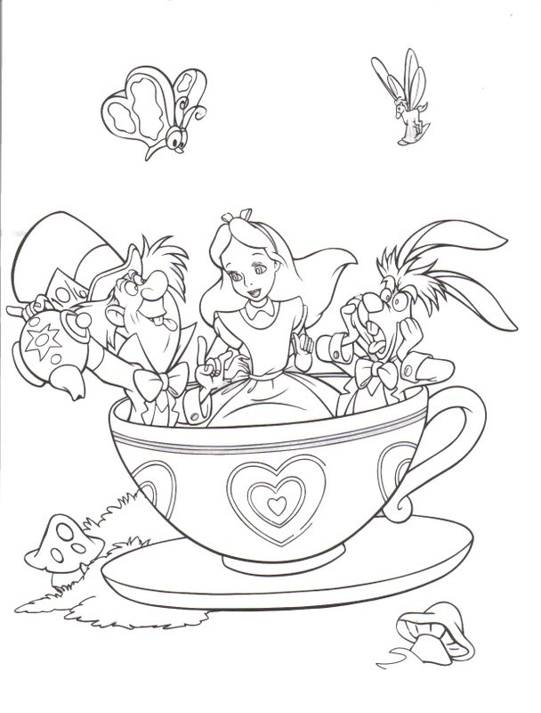 fantasyland mad tea party alice in wonderland