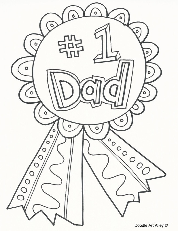 fathers day coloring pages doodle art alley