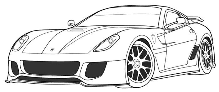 ferrari 599xx coloring page cars coloring pages coloring