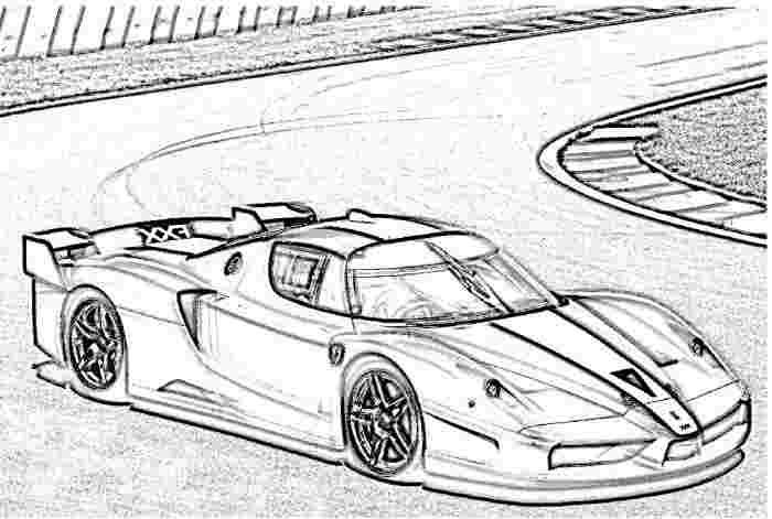 ferrari race car coloring pages 2009 ferrari 599xx coloring