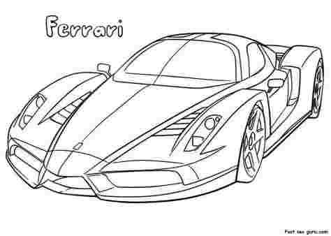 ferrari race car coloring pages huangfei