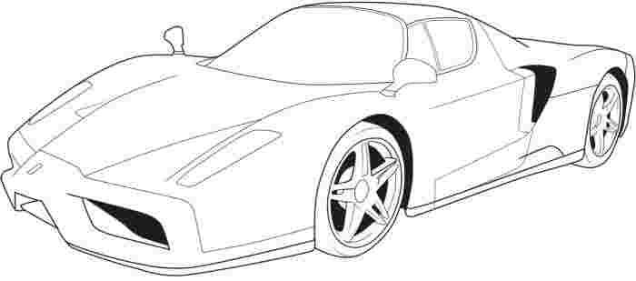 ferrari race car coloring pages super car ferrari enzo