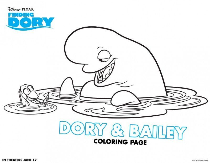 finding dory coloring pages printables clip art library