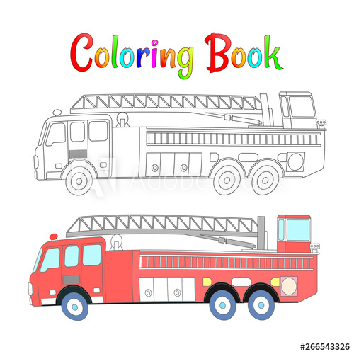 fire truck coloring book vector coloring pages for kids