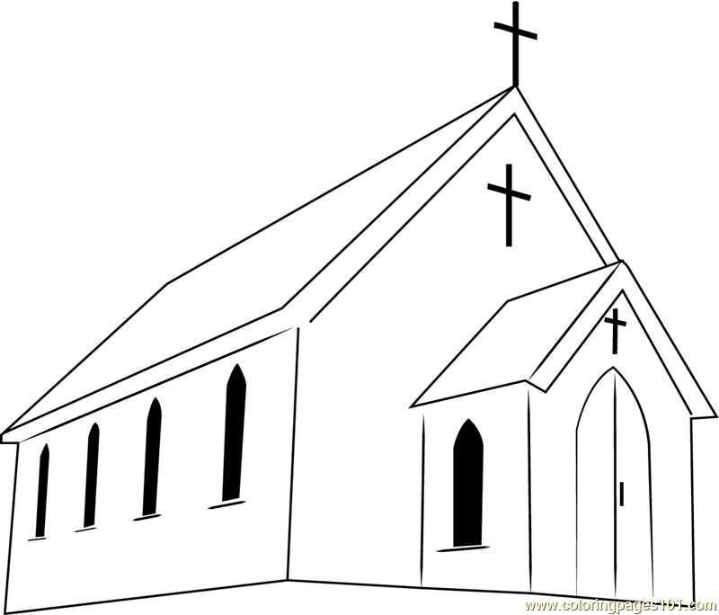 first presterian church coloring page free church