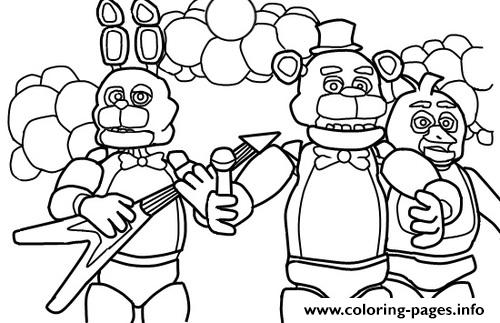 five nights at freddys free printable coloring pages