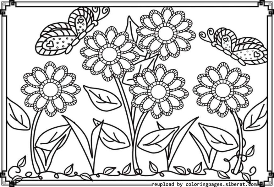 flower garden colouring pages high quality coloring pages