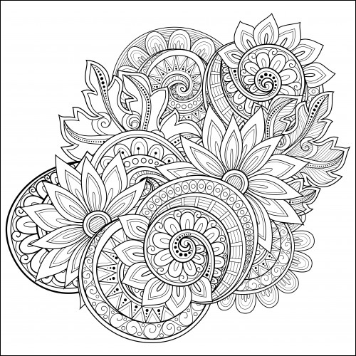flowers coloring page for adults unique images flowers