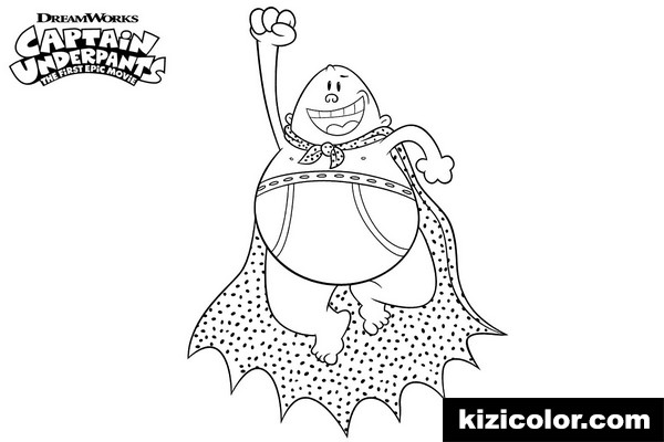 flying captain underpants kizi free coloring pages for