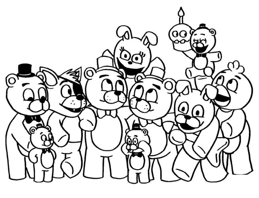 fnaf coloring pages to print 101 coloring
