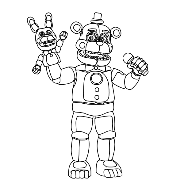 fnaf funtime freddy coloring pages free fun for kids