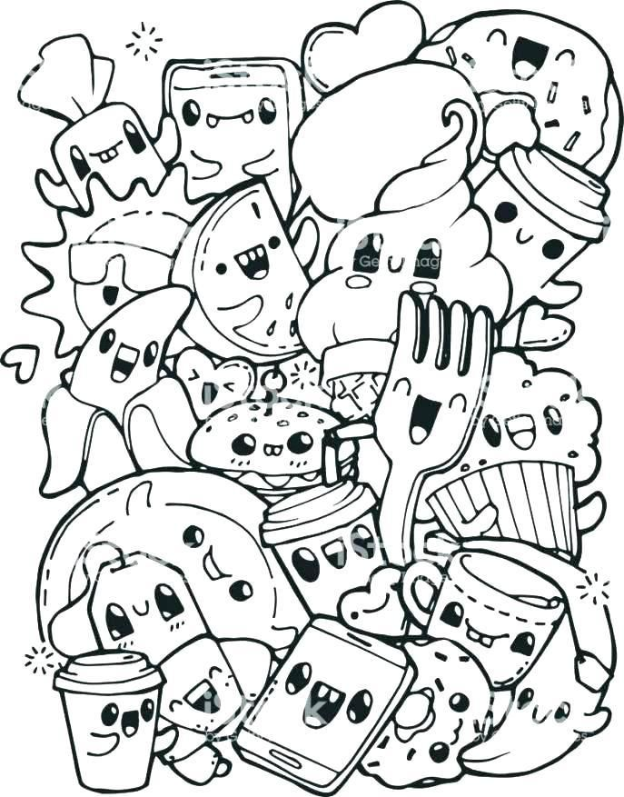 food coloring sheets pages of breakfast page medium