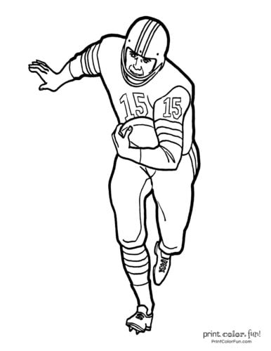 football coloring pages free sports printables coloring