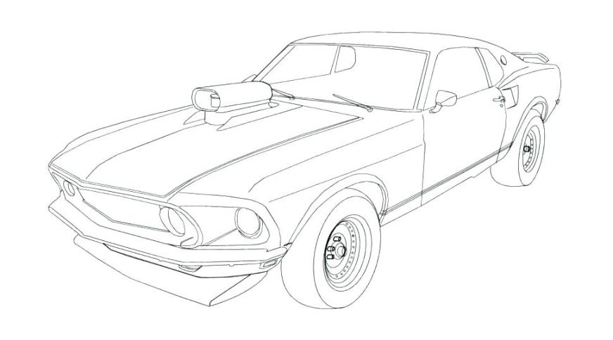 ford mustang coloring pages at getdrawings free for
