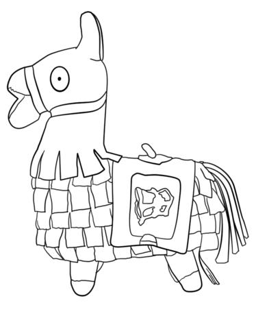 fortnite llama free printable coloring pages