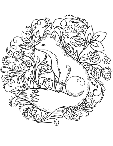 fox coloring page free printable coloring pages